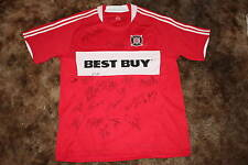 CHICAGO FIRE SIGNED 2010 REPLICA MLS SOCCER JERSEY