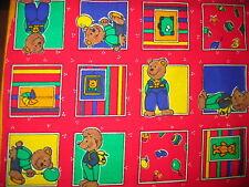 Bären Stoff Baumwolle 140 cm rot für Kirschkernkissen oder Deko im Kinderzimmer