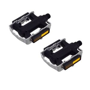 """975 Alloy/Nylon Pedals 9/16"""" Silver Bicycle Bike Road MTB Cruiser Fixie"""