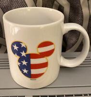 Disney Mickey Mouse STARS AND STRIPES Coffee Mug Cup 8oz NEW UNUSED