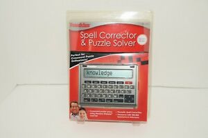 Franklin SA-309 Merriam Webster Spell Corrector & Puzzle Solver NEW SEALED