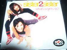 Sister 2 Sister What's A Girl To do / Sister Mixes Australian CD Single