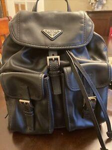 prada backpack leather