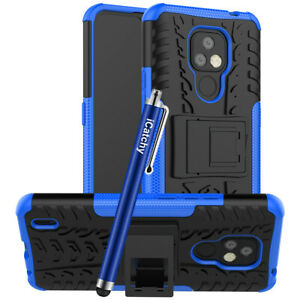 For Motorola Moto E7 Case Heavy Duty Armor Dual Layer Hybrid Shockproof Cover