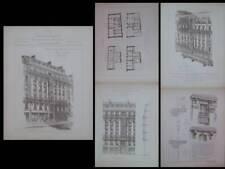 PARIS, 65 AVENUE BOSQUET - 1890 - GRAVURES ARCHITECTURE, NOEL