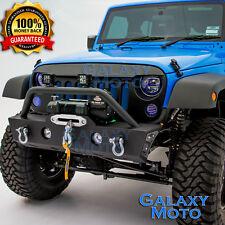 Stubby Rock Crawler Front Bumper+Fog Light Mount Hole for 07-17 Jeep JK Wrangler