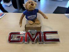 GENUINE GM 2007-2013 GMC YUKON CHROME/RED GRILLE EMBLEM NAMEPLATE GM# 22761717