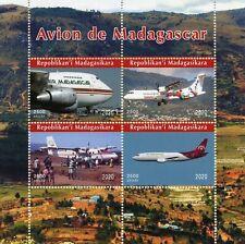 Madagascar Aviation Stamps 2020 MNH Aircraft of Madagascar 4v M/S