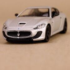 2013 Silver Maserati GT Gran Tursimo Sports Car Model 1:38 Die-Cast Pull-Back