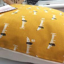 Copricuscino in tessuto di cotone primavera OCRA GIALLO SENAPE Salsiccia Cane Daschund bgh