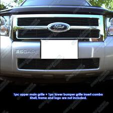 Custom Fits 08-12 2011 2012 Ford Escape Black Billet Grill Combo