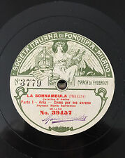 "RARE 78RPM 10"" FONOTIPIA SOPRANO MARIA BARRIENTOS LA SONNAMBULA CAVATINA AMINA"