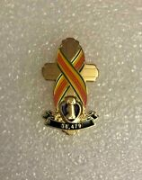 VIETNAM WAR MEMORIAL CROSS PIN WITH PURPLE HEART ARMY MARINES NAVY AIR FORCE