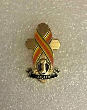 Vietnam War Memorial Cross Pin With Purple Heart Army Marines Navy Air Force