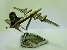 Rare Vintage Israeli EL AL Airlines Airplane Metal Chrome Ashtray