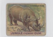 1930 World Wide Gum Jungle R78 #17 Rhinoceros Non-Sports Card 0s4