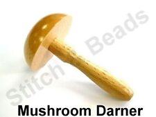 Mushroom Darner Traditional Hand Darning Repairs Sewing Needlework Wooden Tool