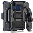 For Samsung Galaxy A20/A30/A50 Slim Armor Case With Belt Clip Holster