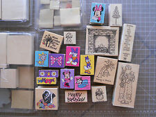 Rubber Stamp Lot  Disney Stampin Up Stamps Mounted Unmounted Christmas Spring