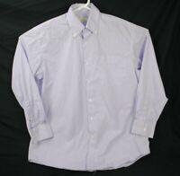 PETER MILLAR Men's Large Purple White Check Long Sleeve Button Down Shirt L
