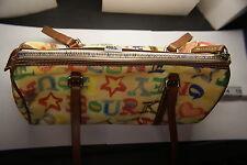 Pre-Own Dooney & Bourke Purse Handbag Doodle J6174784 Brown Handles Red Interior