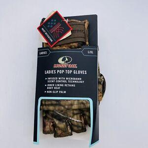 Ladies L/XL Pop-Top Gloves Mossy Oak Scent Control Non-Slip Palm Heat Retent