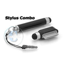 RETRACTABLE STYLUS 30pin PEN TOUCH SCREEN FOR IPHONE 3G 3GS 4 4S IPAD 3 2 BLACK