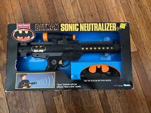 Vintage 1990 Batman Sonic Neutralizer Dark Knight Gun Kenner - NEW IN BOX