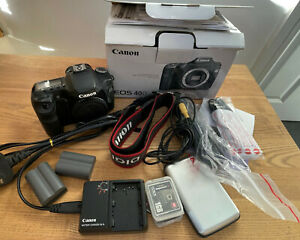 Canon EOS 40D 10.1MP Digital SLR Camera - Black (Body Only) Boxed & Accesories