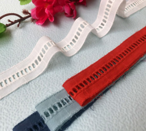 5yds cotton embroidery stair perforated lace Trim clothing decoration accessorie