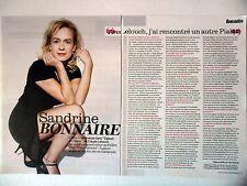 COUPURE DE PRESSE-CLIPPING : Sandrine BONNAIRE  [2pages] 04/2014