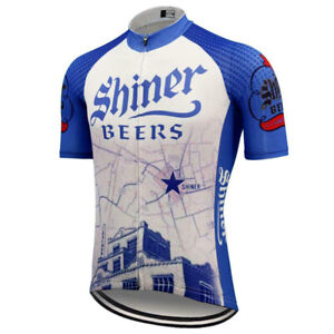 Retro Shiner Beers Cycling Jersey cycling Short Sleeve jerseys