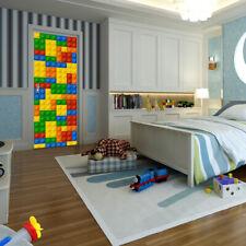 Walplus Building Blocks Door Mural Self-Adhesive Stickers Decal Home Decorations