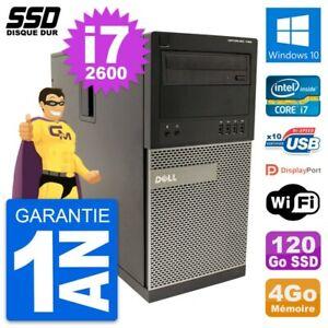 PC Tour Dell OptiPlex 790 MT Intel i7-2600 RAM 4Go SSD 120Go Windows 10 Wifi