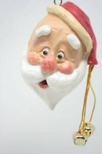 Bert Anderson Collection Santa Head Christmas Ornament BAC21 Jolly Santa