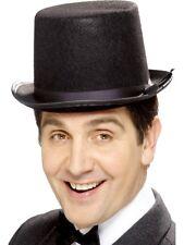 Mens Top Hat Black Topper Tails Of Old England Fancy Dress Hat