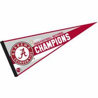 Alabama Crimson Tide College Football 2020 2021 National Champions Pennant Flag