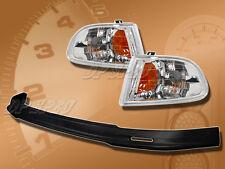 FOR 92-95 HONDA CIVIC 2/3DR T-M FRONT BUMPER LIP BODY KIT EURO CORNER LAMP LIGHT