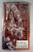 Afghans & Things - Simplicity 0402 - 7 Crochet & Knit Patterns
