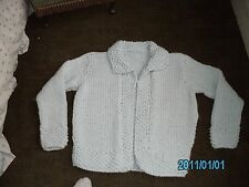 Hand Knitted ladies chunky jacket size 16