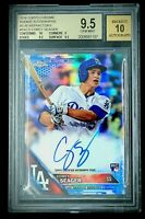 2016 Topps Chrome Corey Seager /150 BLUE Refractor RC BGS 9.5 Auto GEM MINT SSP