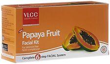 VLCC PAPAYA FRUIT FACIAL KIT SET OF 6 REDUCES WRINKLES & LIGHTENS ALL AGE SPOTS