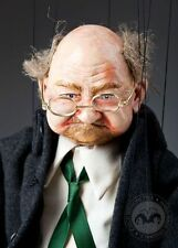 Old man Joe Marionette - handmade puppet with umbrella and glasses
