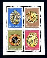 HUNGARY - UNGHERIA - BF - 1968 - 41° Giornata del francobollo. Ceramiche antiche