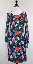 Project Runway Dress Floral Long Sleeves Feminine Scuba sz Medium NEW