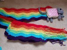 Nyan cat scarf Poptart kawaii rainbow cute long handmade crochet