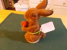 Made In The Us Zone Germany Rabbit Late 1940S Or 1950S Flocked Rabbit Candy Cont
