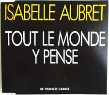 """ISABELLE AUBRET - CD SINGLE PROMO """"TOUT LE MONDE Y PENSE"""""""