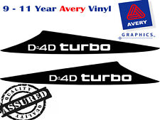 D4D TURBO Decal Sticker For HILUX 3 Fin Large Bonnet Scoop 2012 to Current 4X4