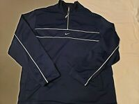 Mens Nike Sweatshirt Sz Medium Good Condition Very Soft Blue 1/4 Zip Up